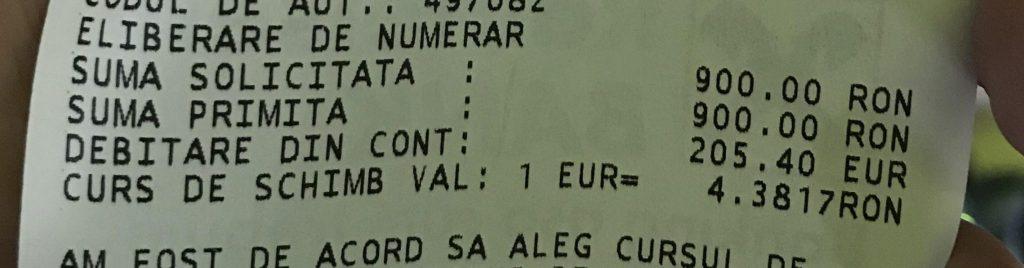 cambio euro ron