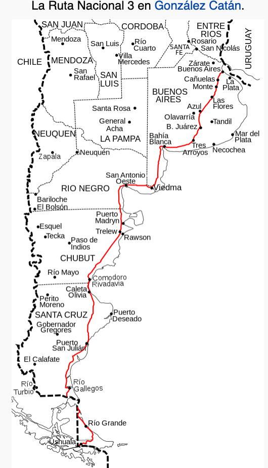 Patagonia Cartina Geografica.Patagonia On The Road Ruta 3 Patagonia Argentina