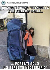 Trekking di un giorno zaino